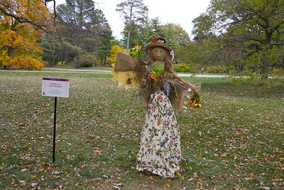 """Mother of Four Seasons"" scarecrow, The Morton Arboretum, Lisle, Ill., October 2015."