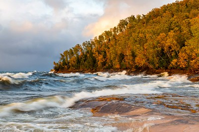 Lake Superior Stormy Evening