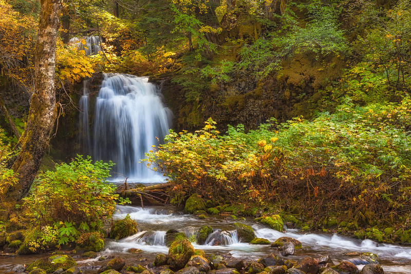 Twin Falls on the Lewis River. Gifford Pinchot National Forest Washington