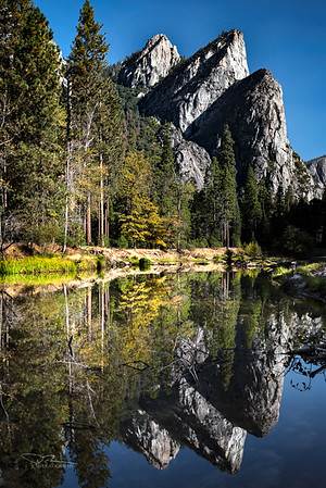 Three Brothers/Merced River, Yosemite Valley
