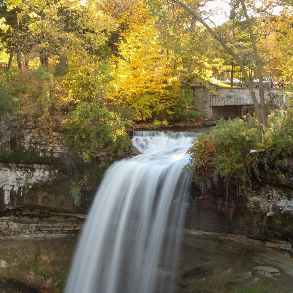 Fall at Minnehaha Falls
