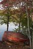 Red Fishing Boat at Kensico Dam, NY