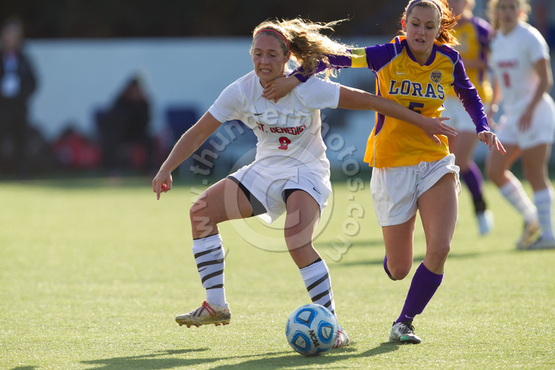Wheaton College Women's Soccer NCAA Playoffs: Loras vs College of St Benedict (2-0)