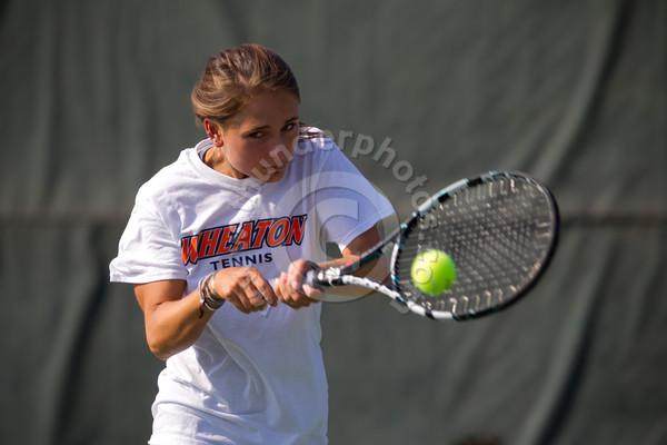 Wheaton College Women's Tennis Action Photos