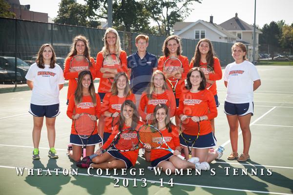 Wheaton College 2013-14 Women's Tennis Team