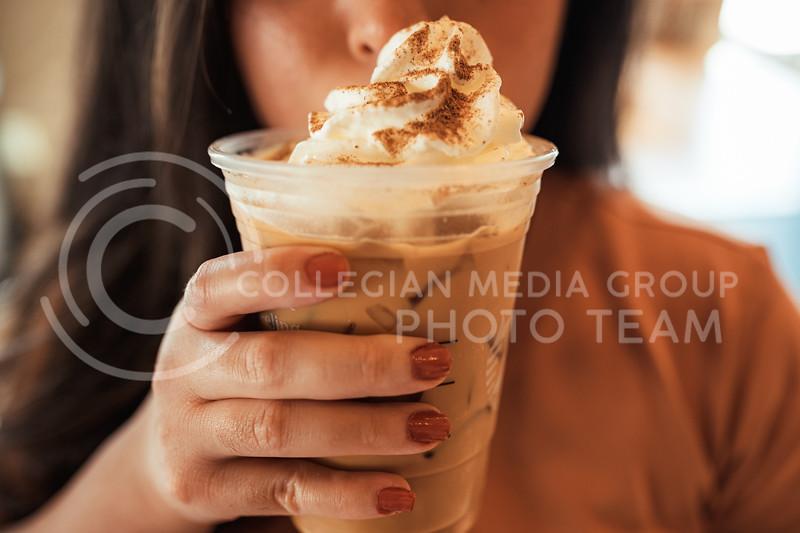 Seasonal pumpkin spice latte. (Dylan Connell   Collegian Media Group)