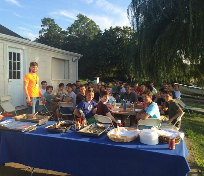Dinner at Yacht Club,  Tuesday Aug 19, 2014