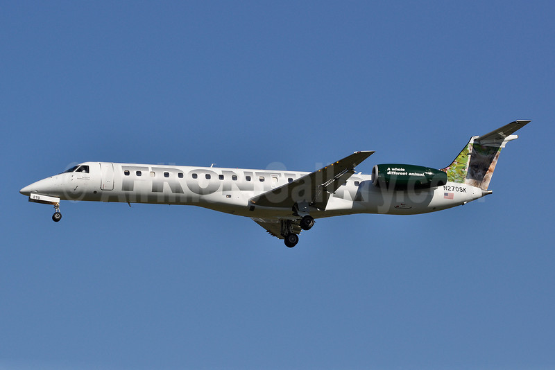 Frontier Airlines (2nd)-Chautauqua Airlines Embraer ERJ 145LR (EMB-145LR) N270SK (msn 145304) (Baby Red Fox) PHL (Tony Storck). Image: 905569.