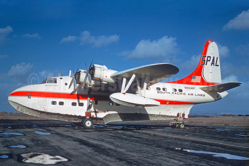 """South Pacific Air Lines-SPAL Short S-45 Solent 3 N9946F (msn S1295) """"Isle of Tahiti"""" (Jacques Guillem Collection). Image: 925050."""