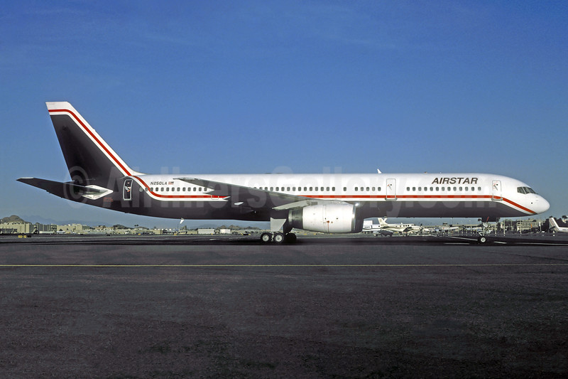 Airstar (Leisure Air) Boeing 757-23A N250LA (msn 24291) (Leisure Air colors) PHX (Christian Volpati Collection). Image: 941544.