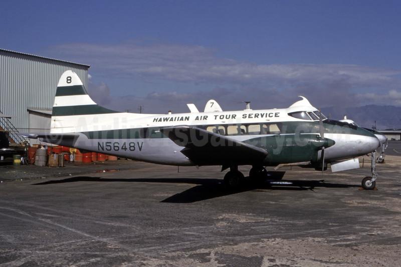 Hawaiian Air Tour Service (HATS) de Havilland DH.104 Dove N5648V (msn 04490) HNL (Bruce Drum Collection). Image: 945922.