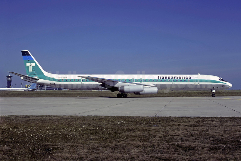 Transamerica Airlines McDonnell Douglas DC-8-63CF N4864T (msn 46059) ORY (Christian Volpati). Image: 907190.