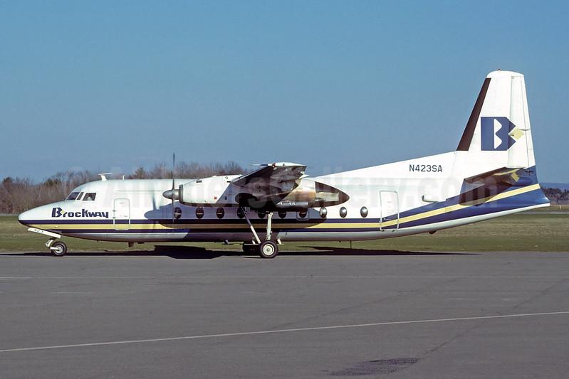 Brockway Air Fokker F.27 Mk. 600 N423SA (msn 10594) (Jacques Guillem Collection). Image: 913586.