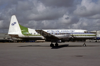 Air Florida Commuter-Atlantic Gulf Airlines Convair 580 N73108 (msn 11) MIA (Bruce Drum). Image: 103342.