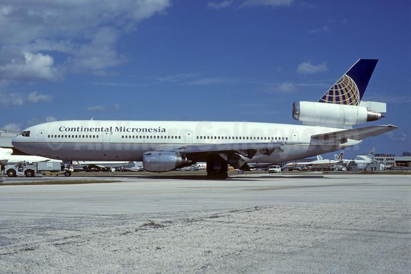 Continental Micronesia McDonnell Douglas DC-10-10 N68047 (msn 47801) MIA (Bruce Drum). Image: 103677.