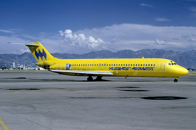 Hughes Airwest McDonnell Douglas DC-9-31 N9334 (msn 47247) SLC (Bruce Drum). Image: 101930.