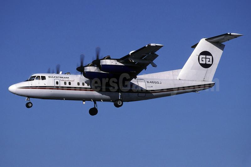 Gulfstream International Airlines de Havilland Canada DHC-7-102 Dash 7 N4860J (msn 019) MIA (Richard Vandervord). Image: 905876.