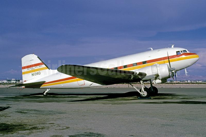 Nevada Airlines Douglas DC-3-277C N138D (msn 2245) LAS (Bruce Drum). Image: 102743.