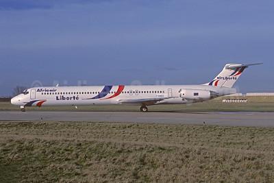 Africair Liberté - Air Liberté McDonnell Douglas DC-9-83 (MD-83) F-GHED (msn 49576) (Air Liberté colors) ORY (Christian Volpati Collection). Image: 930385.