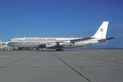 African Express Airways (1st) Boeing 707-323B N7158Z (msn 20179) MZJ (Christian Volpati Collection). Image: 950663.
