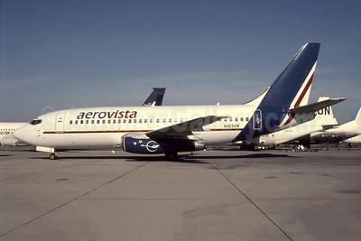 Aerovista Gulf Express Boeing 737-277 N183AW (A6-AVA) (msn 22650) SHJ (Antony J. Best). Image: 951929.