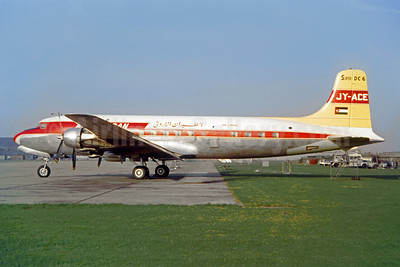 Air Jordan Douglas DC-6 JY-ACE (msn 42855) LHR (Jacques Guillem Collection). Image: 949975.
