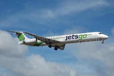 Jetsgo (jetsgo.net) McDonnell Douglas DC-9-83 (MD-83) C-GKLC (msn 53468) FLL (Bruce Drum). Image: 100555.