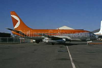 CP Air (Canadian Pacific Air Lines) Boeing 737-217 CF-CPZ (msn 20197) YUL (Bruce Drum). Image: 101904.