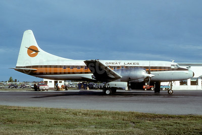 Great Lakes Airlines (Canada) Convair 580 C-GDTD (msn 28) YZR (Bruce Drum). Image: 104903.