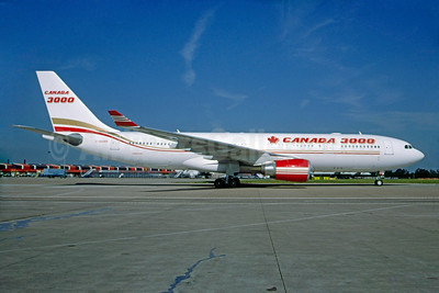 Canada 3000 Airlines Airbus A330-202 C-GGWB (msn 211) MAN (Andrew Yarwood). Image: 929928.