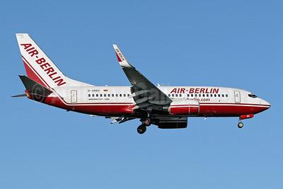 Air-Berlin (airberlin.com) Boeing 737-76N WL D-ABBS (msn 28654) STN (Keith Burton). Image: 900273.