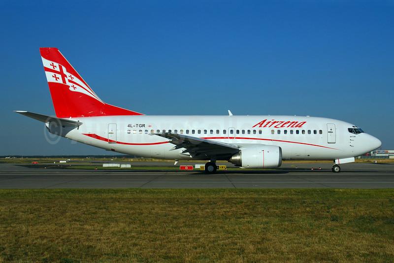 Airzena Georgian Airlines Boeing 737-59D 4L-TGR (msn 24694) FRA (Bernhard Ross). Image: 900341.