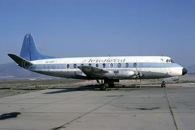 Aerosierra de Durango Vickers Viscount 745D XA-COT (msn 213) (United colors) TUS (Bruce Drum Collection). Image: 951560.