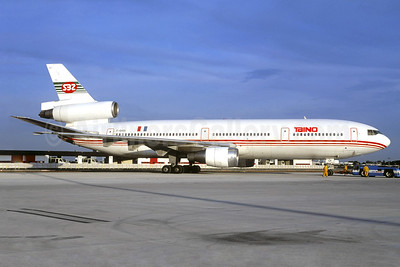 Taino Airlines - SBZ (Scibe Airlift Zaire) McDonnell Douglas DC-10-30 F-GHOI (msn 46870) (Scibe Airlift Zaire colors) ORY (Jacques Guillem). Image: 931653.