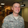 "Dear Dee, <br /> My son, SGT Jason Schumann, is at this link: <a href=""http://mainetroopgreeters.smugmug.com/gallery/2614328#137944282"">http://mainetroopgreeters.smugmug.com/gallery/2614328#137944282</a>  (page 9, March 22, 2007, 5:15pm) He is the one who looks tired but is smiling. He was always smiling. When he made it to Kuwait, I mentioned to him I had seen his picture online and how he was now a star. He didn't know his picture was online, but I could tell he was flattered. This is the image I have burned in my mind, it is how I choose to remember him. Thank you and the other greeters again, not just for taking Jason's picture, but for letting our soldiers know people care about them. Sincerely,<br /> Candie Glisson<br /> <br /> <br /> The Associated Press<br /> HAWLEY, Minn. — Jason Schumann is remembered by his high school principal as a delightful young man who always had a smile on his face. The 23-year-old Army sergeant was killed May 19, 2007 when a bomb exploded near his vehicle in Ad Diwaniyah, Iraq, about 100 miles west of Baghdad, the Defense Department said May 22. Schumann, of Hawley, was the 60th person with strong Minnesota ties who have died in connection with the wars in Iraq and Afghanistan. Hawley High School Principal Mike Martin called his former student a ""delightful young man in every regard,"" known by some as ""Tuba"" for the instrument he played in the high school band. ""He was an extremely happy student, kind of a free spirit of sorts, but in a very good sort of way,"" Martin said. ""We just thoroughly enjoyed him as a student."" His family's pastor, the Rev. Tom Olson of Solem Lutheran Church, said Schumann's unit was escorting a convoy to the Baghdad airport when it was attacked. Schumann was on his second tour of duty in Iraq, Olson said. Schumann's wife, Laura, and son, Joe, who will be 2 years old next month, were staying in her native England while he was deployed. His father and stepmother, Jim and Sherry Schumann, live in Rollag, 13 miles south of Hawley. His mother and stepfather, Candie Glisson and Russell Toth, live in Fargo, N.D., about 20 miles west of Hawley."