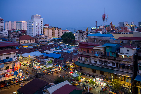 Evening over Phnom Penh