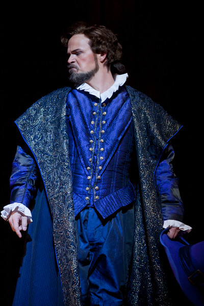 Baritone Troy Cook is Ford in San Diego Opera's FALSTAFF. February, 2017. Photo by J. Katarzyna Woronowicz Johnson.