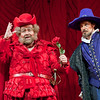 Baritone Roberto de Candia is Falstaff and baritone Troy Cook is Ford in San Diego Opera's FALSTAFF. February, 2017. Photo by J. Katarzyna Woronowicz Johnson.