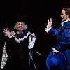 (L-R) Tenor Joel Sorensen (Dr. Caius) and baritone Troy Cook (Ford) in San Diego Opera's FALSTAFF. February, 2017. Photo by J. Katarzyna Woronowicz Johnson.