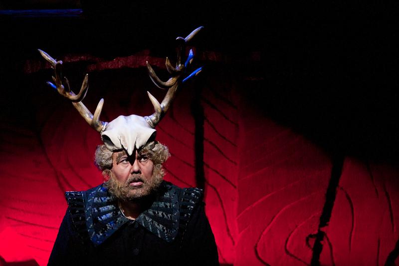 Baritone Roberto de Candia is Falstaff in San Diego Opera's FALSTAFF. February, 2017. Photo by J. Katarzyna Woronowicz Johnson.
