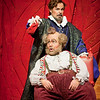 Baritone Troy Cook is Ford and baritone Roberto de Candia is Falstaff in San Diego Opera's FALSTAFF. February, 2017. Photo by J. Katarzyna Woronowicz Johnson.
