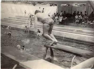 Mergulho na piscina de Andrada
