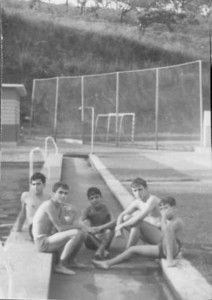 Piscina Andrada Alexandre Marvanejo?, Luis Silvestre, Zé Gaspar, Zé Luis Sá e irmão Vasco