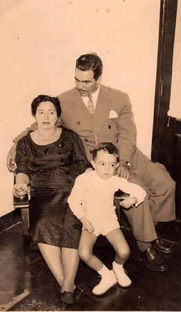 Familia Mario Veiga,  Ulminia Veiga e filho Luis Veiga