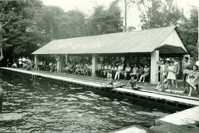 Campeonato de natação da Diamang, que teve lugar na Piscina do Dundo, em Agosto de 1968.  Lu Canhão, Isabel Soares, Vandinha Teixeira, Henrique Carlos Jorge....