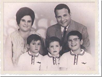 Familia Miranda Relvas: Branca, Miranda Relvas,  Miguel Relvas, José Relvas e João Relvas