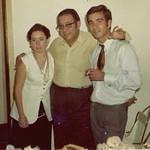 No Luxilo em casa do Gil Silva, . Dezembro de 1970.  ?, Odete Teixeira, Muata Teixeira, Nelson Teixeira, ? Nelson e Odete depois de 2 semanas no Cossa (lua de Mel)
