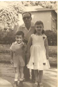 Maludi, 1957,  Manuel Augusto e  filhos Jome' e Elza