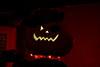 Pumpkin Jim's grin (Halloween on our porch)