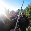 Give Nicole a blade and she's happy! (Gettin' a Christmas Tree at the Graton FD Farm)
